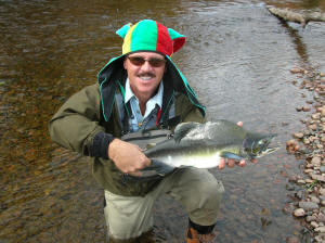 Pink Salmon fly fishing on the Garden river is a blast.