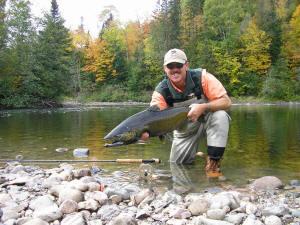 Don Mathews with a Garden River Chinook Salmon