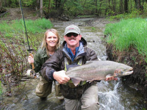 Ohio steelhead fishing oh guided fly spin trout fishing trips for Fly fishing ohio