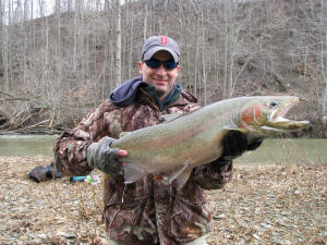 Ohio steelhead fishing oh guided fly spin trout fishing trips for Best fishing in ohio